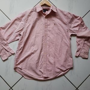 Ralph Lauren 💜 Pink Chambray Button Down Shirt